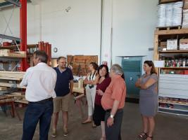 Besichtigung im Zimmereibetrieb Mussner - Führung mit dem Firmenchef