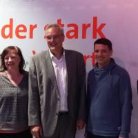 Beim ordentlichen Bezirksparteitag der Oberbayern-SPD in Ebersberg wurde Florian Ritter aus München zum neuen Vorsitzenden gewählt, Bärbel Kofler aus Traunstein wurde als eine der drei stellvertretenden Vorsitzenden gewählt. Auf dem Bild die Delegierten a