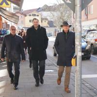 Sepp Konhäuser, Lars Klingbeil, Christian Kegel auf dem Weg zur Klosterkirche