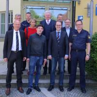 Teilnehmer des Informationsgesprächs bei der Polizeiinspektion Traunstein