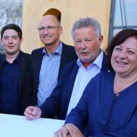SPD-Kreisverbandsvorstände: Sepp Parzinger, Christian Kegel, Sepp Konhäuser und Dr. Bärbel Kofler, MdB